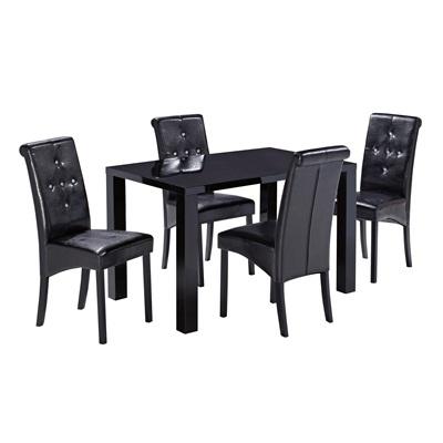 Product photograph showing Monroe Puro Medium Dining Table Black
