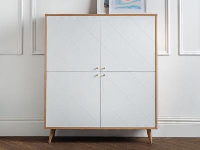 Product photograph showing Moritz 4 Door Cabinet