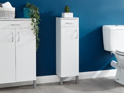 Product photograph showing Moritz One Door One Drawer Cabinet