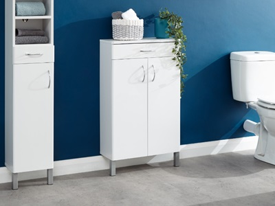 Product photograph showing Moritz Two Door One Drawer Cabinet