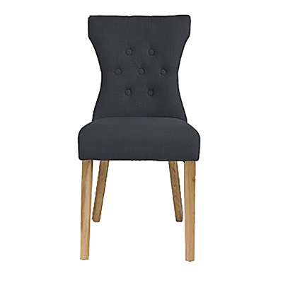 Product photograph showing Naples Dining Chair Grey Pack Of 2