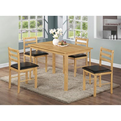 Product photograph showing Nice Dining Set With 4 Chairs