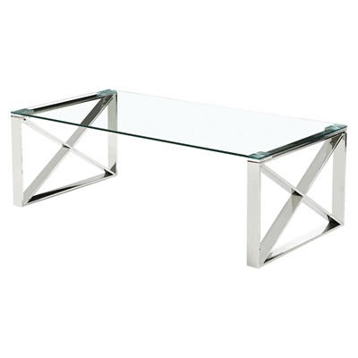 Product photograph showing Ningbo Glass Coffee Table