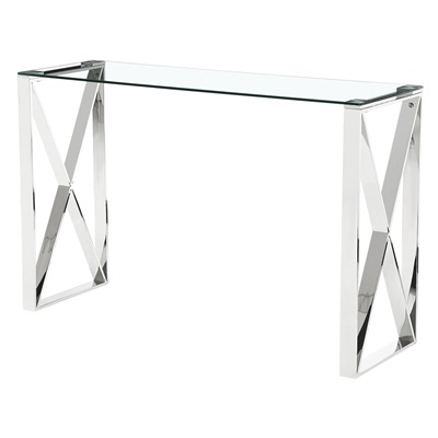 Product photograph showing Ningbo Glass Console Table