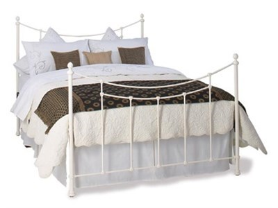 Original Bedstead Co Winchester Headboard 3 Single Glossy Ivory Headboard Only Metal Headboard