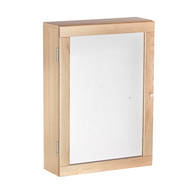 Product photograph showing Ocean Wall Mirrored Cabinet Oak