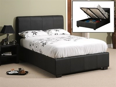 Snuggle Beds Oregon Ottoman (Matte Black) 6' Super King Black Ottoman Bed Ottoman Bed