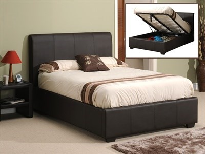 Snuggle Beds Oregon Ottoman (Matte Brown) 4 6 Double Dark Brown Ottoman Bed Ottoman Bed