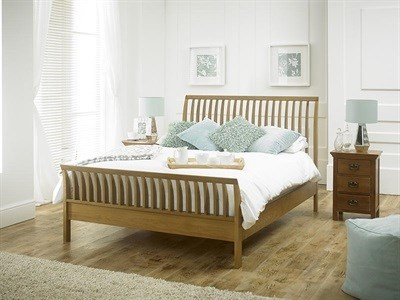 Limelight Orion 4 6 Double American Oak Slatted Bedstead Wooden Bed