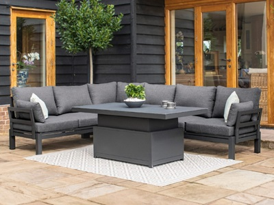 Product photograph showing Oslo Corner Sofa Group With Rising Table