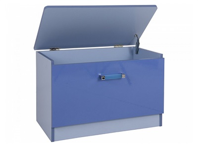 GFW Ottawa 2 Tone Blue Ottoman 2 Tone Blue Blanket Box
