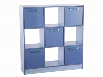 GFW Ottawa 2-Tone Blue 3x3 Storage Unit 2 Tone Blue Drawer Chest