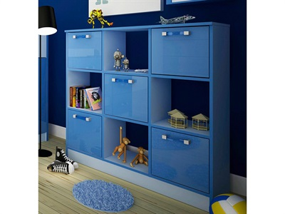 GFW Ottawa 2 Tone Blue 3x3 Storage Unit 2 Tone Blue Drawer Chest