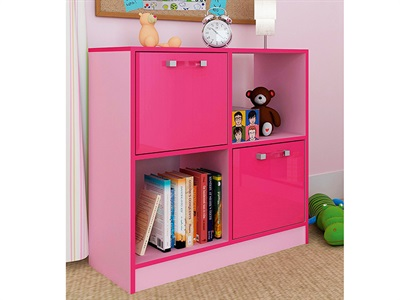 GFW Ottawa - 2-Tone Pink - 2x2 Storage Unit 2 Tone Pink Drawer Chest