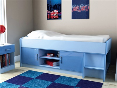 GFW Ottawa 2-Tone Blue Cabin Bed  3 Single 2 Tone Blue Cabin Bed