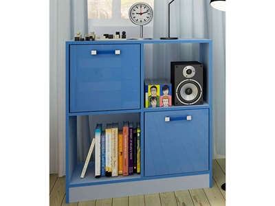 GFW Ottawa - 2-Tone Blue - 2x2 Storage Unit  2 Tone Blue Drawer Chest