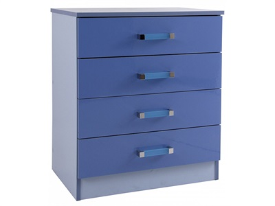 GFW Ottawa 2 Tone Blue Chest (4 Drawer)  2 Tone Blue Drawer Chest