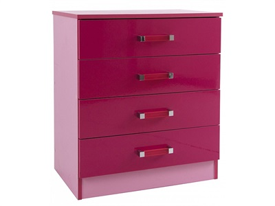 GFW Ottawa 2-Tone 4-Drawer Pink Chest 2 Tone Pink Drawer Chest