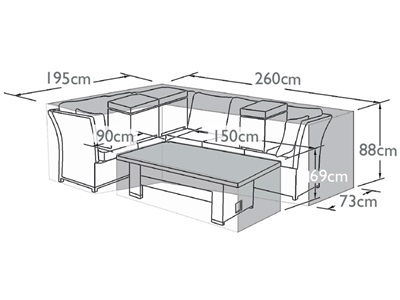 Product photograph showing Outdoor Cover For Henley Corner Dining Set