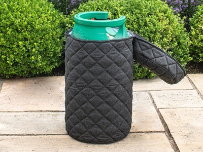 Product photograph showing Outdoor Fabric Quilted Gas Bottle Cover