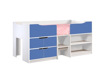 Birlea Paddington Cabin Bed 3 Single White Cabin Bed
