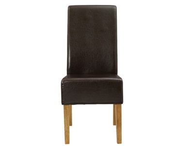 Product photograph showing Padstow Brown Chairs Pack Of Two