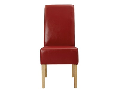 Product photograph showing Padstow Red Chairs Pair Of Two