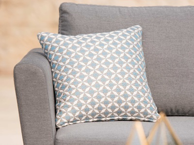 Product photograph showing Pair Of Mosaic Blue Scatter Cushions