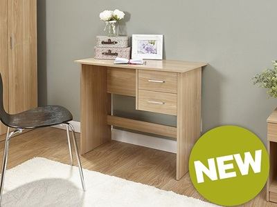 Product photograph showing Panama 2 Drawer Desk
