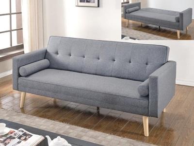 Product photograph showing Paris Sofa Bed Light Grey