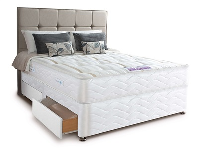 Sealy Pearl Firm Divan Set 5 King Size Zip And Link Matching Set Platform Top - No Drawers Divan