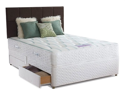 Sealy Pearl Ortho Divan Set 5 King Size Zip And Link Matching Set Platform Top - No Drawers Divan