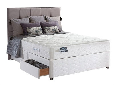 Sealy Pearl Latex Divan Set 5 King Size Zip And Link Platform Top - No Drawers Divan