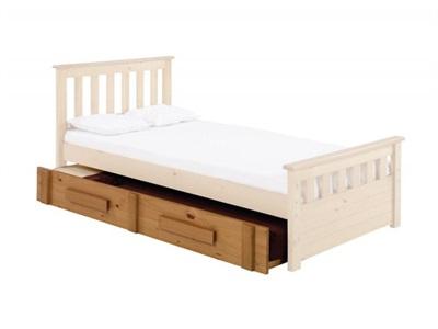 Verona Design Ltd Pesaro Universal Underbed 3 Single Antique Stowaway Bed
