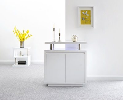 Product photograph showing Polar High Gloss Led Sideboard