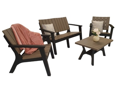Product photograph showing Polly Four-seater Sofa Set