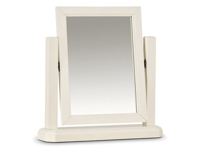 Julian Bowen Portland Dressing Table Mirror Stone White Mirror
