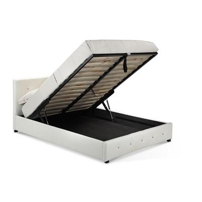 Product photograph showing Quartz Storage Pu Faux Leather Bed