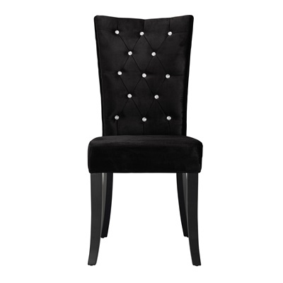 Product photograph showing Radiance Dining Chair Velvet Pack Of 2