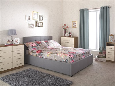 GFW Regal Grey 3 Single Ottoman Bed