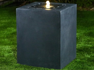 Product photograph showing Rei Water Feature With 1 Led - Dark Grey