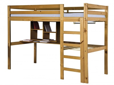 Verona Design Ltd Rimini High Bed - Student Package 3 Single Antique High Sleeper