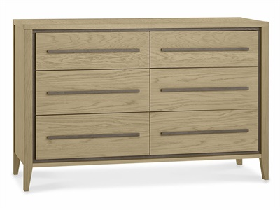 Bentley Designs Rimini Aged Oak & Weathered Oak 6 Drawer Chest Aged Oak and Weathered Oak 6 Drawer Chest Drawer Chest