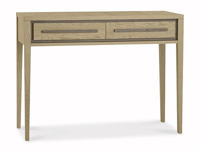 Bentley Designs Rimini Aged Oak & Weathered Oak Dressing Table Aged Oak and Weathered Oak 2 Drawer Dressing Table