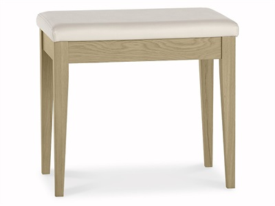 Bentley Designs Rimini Aged Oak & Weathered Oak Stool Aged Oak and Weathered Oak Stool