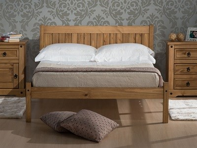 Birlea Rio 4 6 Double Antique Wax Wooden Bed