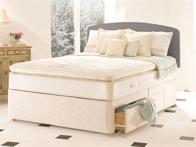 Sealy Millionaire Luxury 6 Super King Matching Set Platform Top - No Drawers Divan