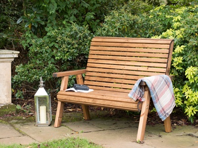 Product photograph showing Rspb 2 Seater Bench