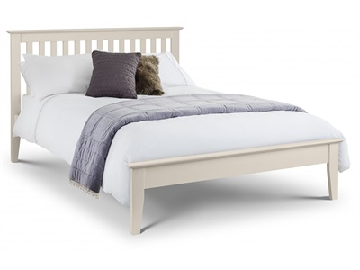 Julian Bowen Salerno 3 Single Stone White Wooden Bed