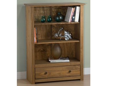 Product photograph showing Santiago 1 Drawer Bookcase